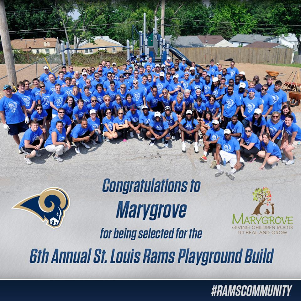 6th Annual St. Louis Rams Playground Build at Marygrove