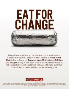 Marygrove Fundraiser at Chipotle Mexican Grill @ Chipotle Mexican Grill