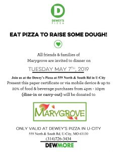 Marygrove Fundraiser at Dewey's Pizza @ Dewey's Pizza