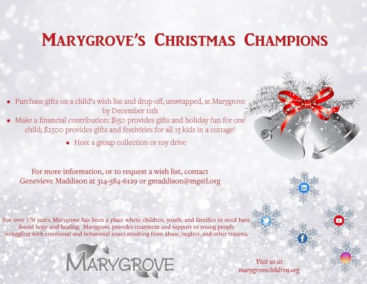Christmas Assistance Programs List 2020.Marygrove S Christmas Champions Marygrove